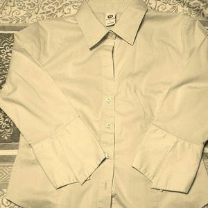 Tan Elle Menno blouse,  size large